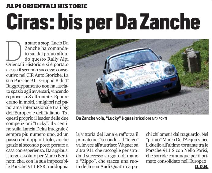 Rally Alpi Orientali Historic